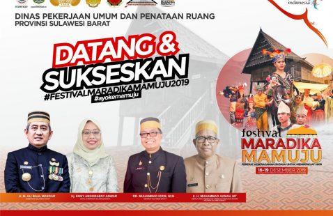 Selamat & Sukses atas penyelengaraan Festival Maradika Mamuju 2019.